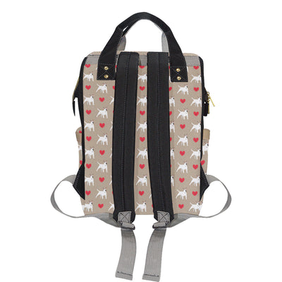 Bull Terriers Pattern Print Design 01 Diaper Bag Backpack