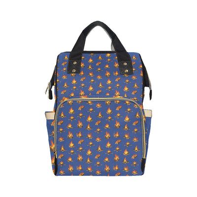 Campfire Pattern Print Design 03 Diaper Bag Backpack