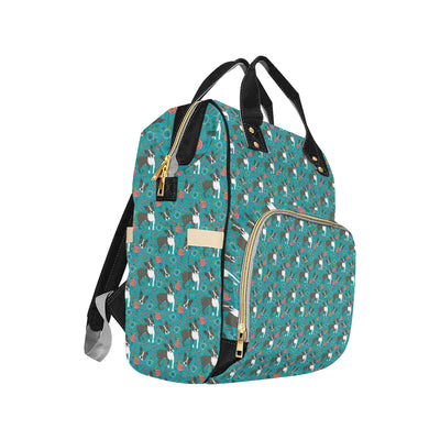 Boston Terrier Pattern Print Design 07 Diaper Bag Backpack