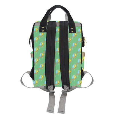 Budgerigar Pattern Print Design 01 Diaper Bag Backpack