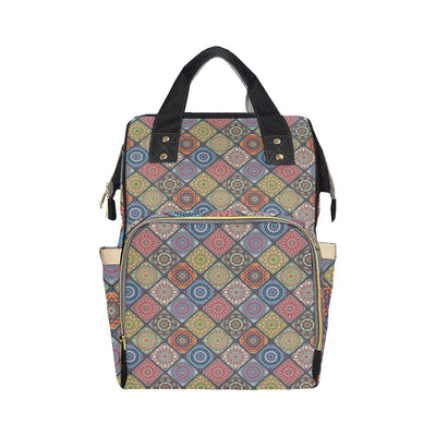 Bohemian Pattern Print Design 05 Diaper Bag Backpack