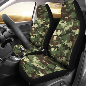 ACU Digital Army Camouflage Universal Fit Car Seat Covers