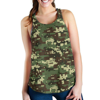 ACU Digital Army Camouflage Women Racerback Tank Top