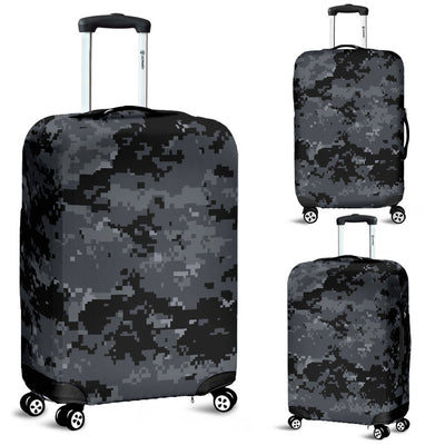 ACU Digital Black Camouflage Luggage Cover Protector