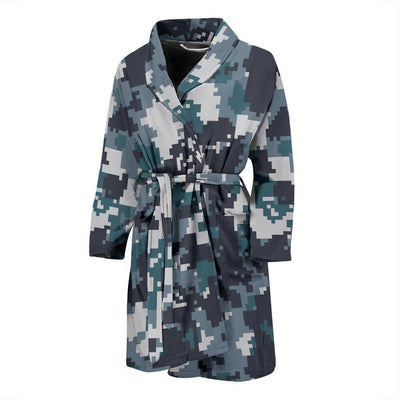 ACU Digital Urban Camouflage Men Bath Robe-JTAMIGO.COM