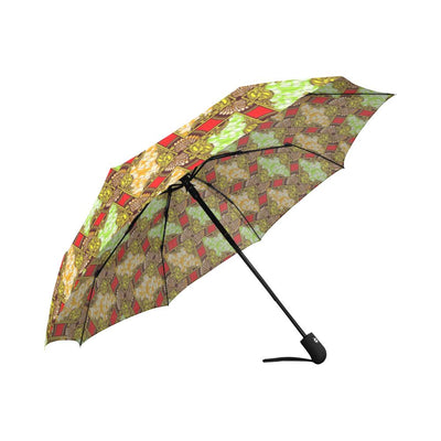 African Classic Print Pattern Automatic Foldable Umbrella