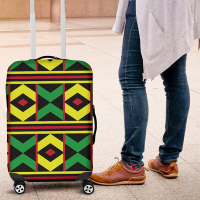 African Geometric Print Pattern Luggage Cover Protector