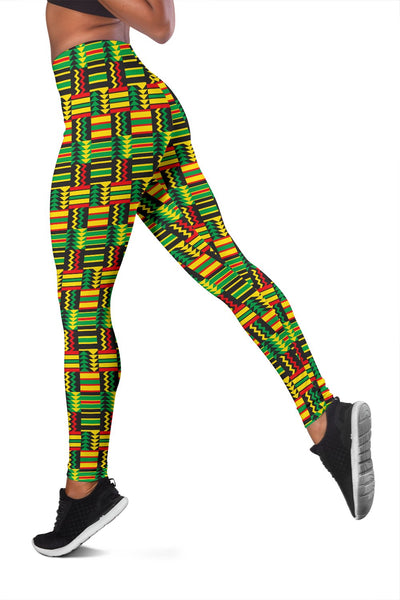 African Zip Zag Print Pattern Women Leggings