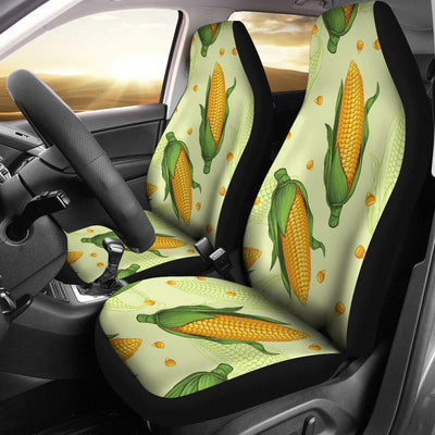 Agricultural Fresh Corn cob Print Pattern Universal Fit Car Seat Covers