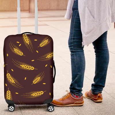 Agricultural Gold Wheat Print Pattern Luggage Cover Protector