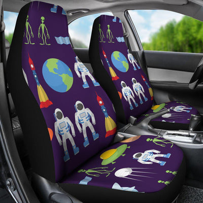 Alien Astronaut Planet Universal Fit Car Seat Covers