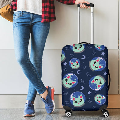 Alien Cat Luggage Cover Protector
