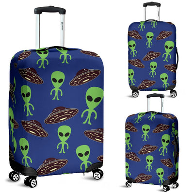 Alien Green UFO Pattern Luggage Cover Protector