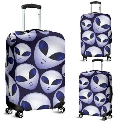 Alien Head Extraterrestrial Luggage Cover Protector