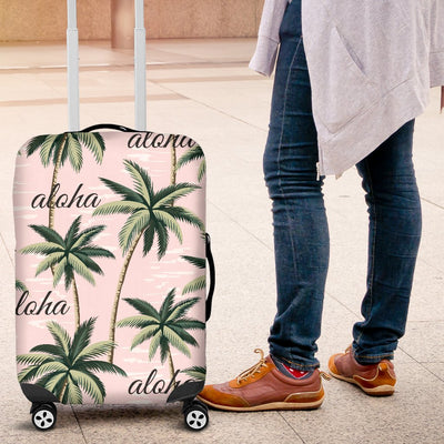 Aloha Beach Pattern Design Themed Print Luggage Cover Protector
