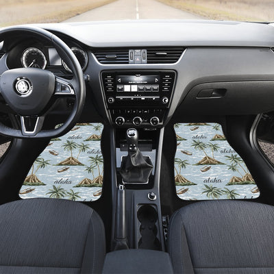 Aloha Hawaii island Design Themed Print Car Floor Mats