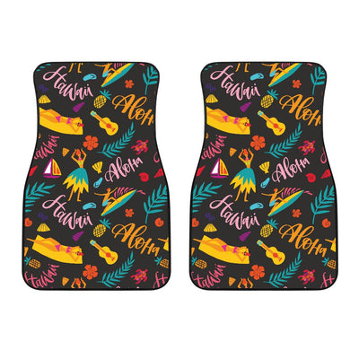 Aloha Hawaii Summer Design Themed Print Car Floor Mats