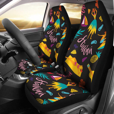 Aloha Hawaii Summer Design Themed Print Universal Fit Car Seat Covers