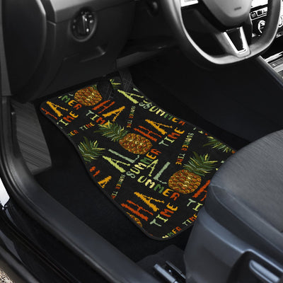 Aloha Hawaii Time Design Themed Print Car Floor Mats