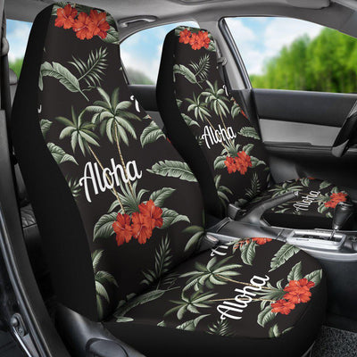 Aloha Palm Tree Design Themed Print Universal Fit Car Seat Covers