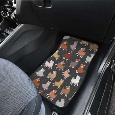 Alpaca Cute Design Themed Print Car Floor Mats