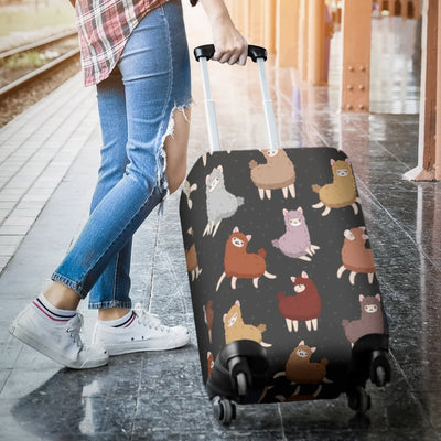 Alpaca Cute Design Themed Print Luggage Cover Protector