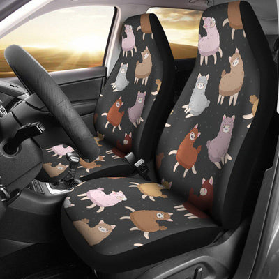 Alpaca Cute Design Themed Print Universal Fit Car Seat Covers