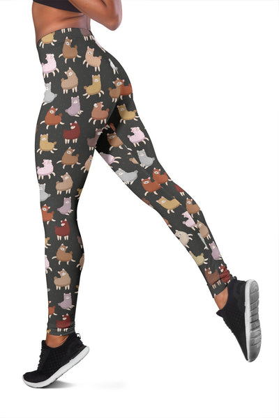 Alpaca Cute Design Themed Print Women Leggings