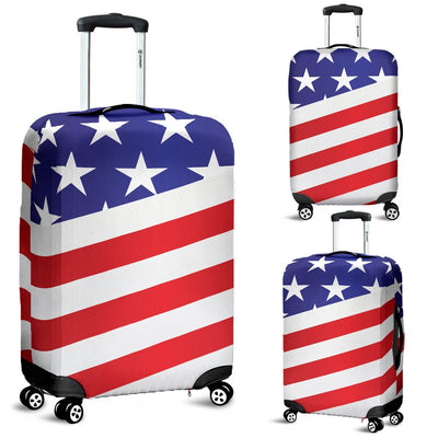 American Flag Print Luggage Cover Protector
