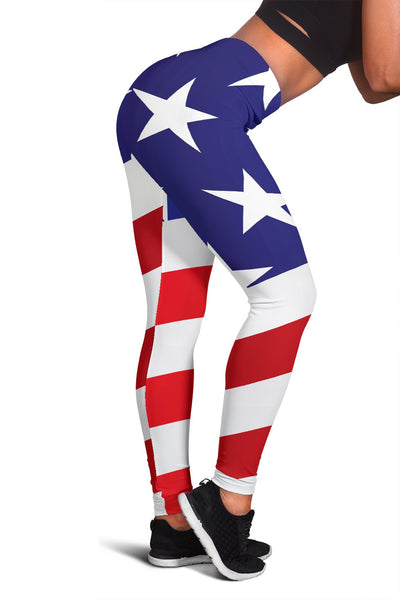 American flag Print Women Leggings