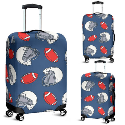 American Football Helmet Design Pattern Luggage Cover Protector