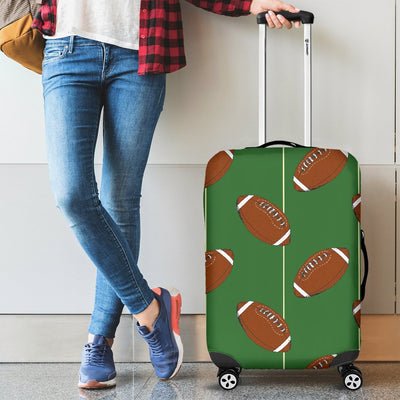 American Football On Field Themed Luggage Cover Protector