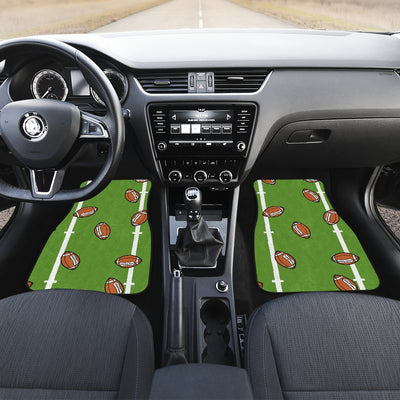 American Football on Field Themed Print Car Floor Mats