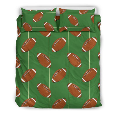American Football On Field Themed Print Duvet Cover Bedding Set
