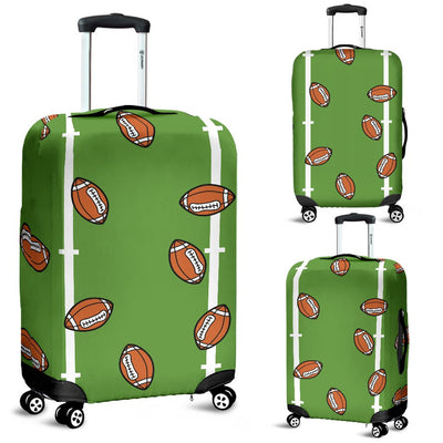 American Football On Field Themed Print Luggage Cover Protector