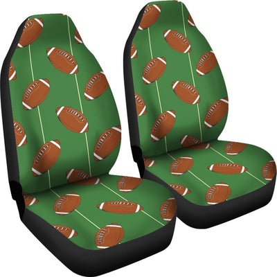American Football on Field Themed Universal Fit Car Seat Covers