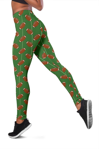 American Football on Field Themed Women Leggings