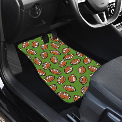 American Football on Green Design Car Floor Mats