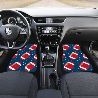 American Football Star Design Pattern Car Floor Mats