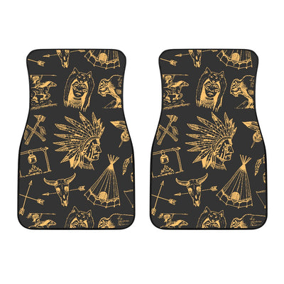American indian Gold Style Car Floor Mats