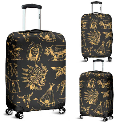 American Indian Gold Style Luggage Cover Protector