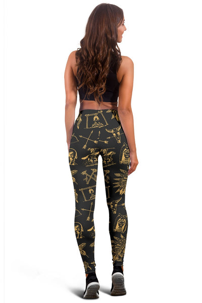 American indian Gold Style Women Leggings