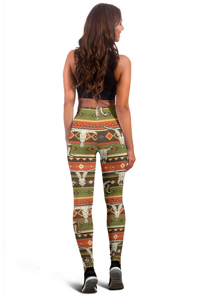 American indian Skull Animal Women Leggings