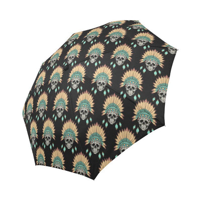 American indian Skull Pattern Automatic Foldable Umbrella