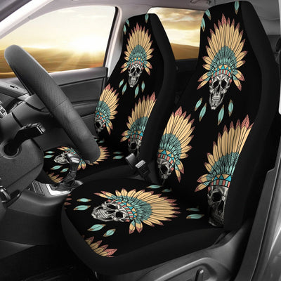American indian Skull Pattern Universal Fit Car Seat Covers