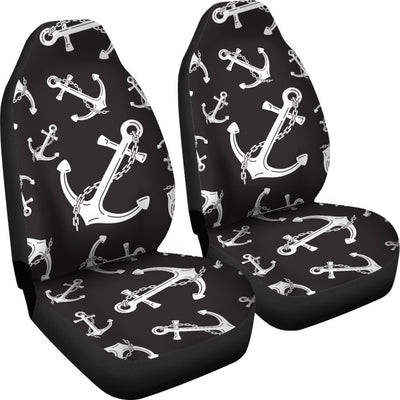 Anchor Black White Universal Fit Car Seat Covers