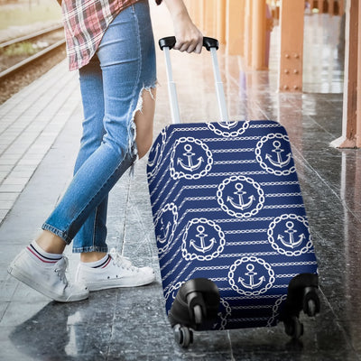 Anchor Stripe Pattern Luggage Cover Protector