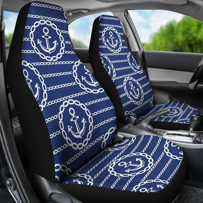 Anchor Stripe Pattern Universal Fit Car Seat Covers