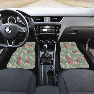 Angel Wings Heart Design Themed Print Car Floor Mats