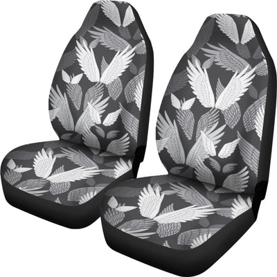Angel Wings Pattern Design Themed Print Universal Fit Car Seat Covers